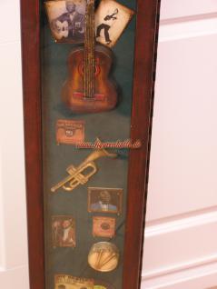 Musik Antik Gitarre Deko Vitrine CD Schrank   Vorschau 3