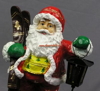 Weihnachtsmann mit Ski Figur Statue Skulptur Weihnachts Deko - Vorschau 2