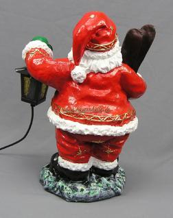 Weihnachtsmann mit Ski Figur Statue Skulptur Weihnachts Deko - Vorschau 4