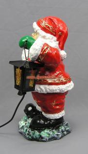 Weihnachtsmann mit Ski Figur Statue Skulptur Weihnachts Deko - Vorschau 5
