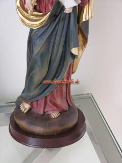 Heilige Mutter Lourdes Madonna mit Krone Maria Statue Skulptur Figur Heiligen mit Kind - Vorschau 4
