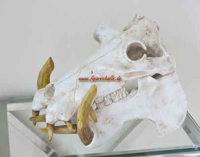 Nielpferd Schädel Deko Zoo Figur Statue Kopf