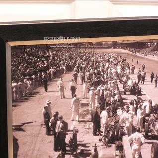 Oldtimer Rennen Wandbild Poster Druck schwarz weiß Nostalgie Auto Deko - Vorschau 2