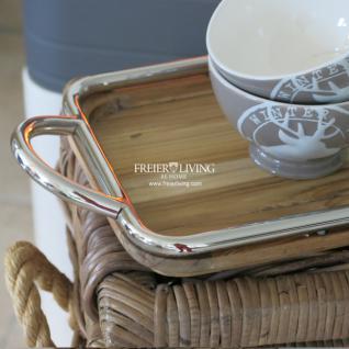 Tablett Holz Chrom Rahmen elegant Deko Impressionen Skandinavischer Wohnstil - Vorschau 2