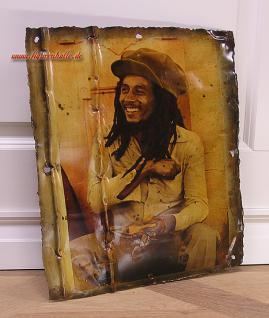 Bob Marley Blechschild Schild Poster Metall Deko Regga