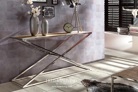Tisch Konsohlentisch Chrom Vintage Antik Massivholz Tischplatte Impressionen