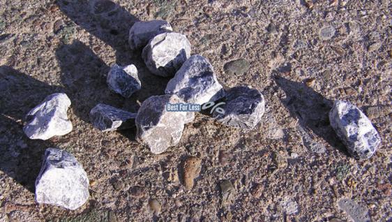 Zierkies Kies 8-16mm Edelsplitt Natursteine grau weiß - Vorschau 2