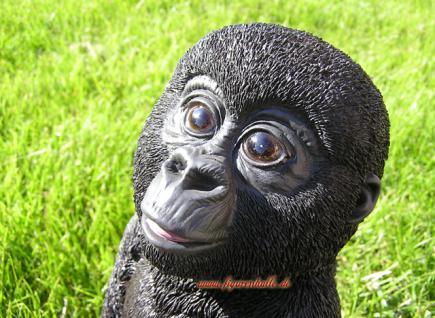 Gorilla Figur als Baby Statue Skulptur Fan Dekoration Artikel - Vorschau 2