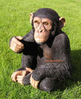 Affe Schimpanse Figur Aufstellfigur Dekoration Deko Skulptur