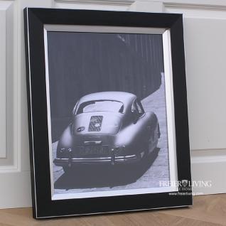 Foto Druck Porsche 356 Nostalgie Race Wandbild schwarzer Rahmen