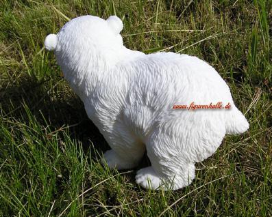 Anktarktis Eisbär laufend Figur Statue Skulptur Deko - Vorschau 3
