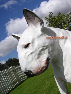 American Pitbull Tierfigur Hundefigur Figur Kopf Weiß - Vorschau 2