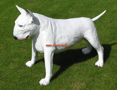 American Pitbull Tierfigur Hundefigur Figur Kopf Weiß - Vorschau 3