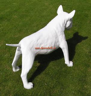 American Pitbull Tierfigur Hundefigur Figur Kopf Weiß - Vorschau 4