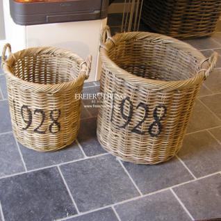 Rattan Korb Rund 1928 Feuerholz Korb für Kamin Ofen - Vorschau 2