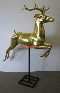 Weihnachts Dekofigur Hirsch Gold Deko Weihnachtsmarkt