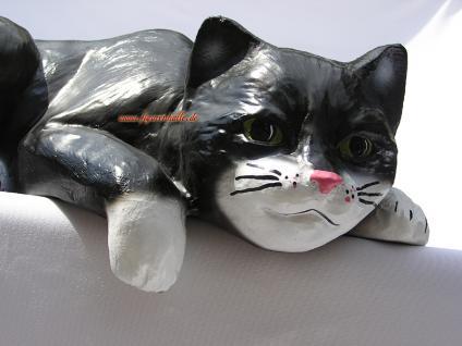 Katze Kater Aufstellfigur Figur Gartenfigur Deko - Vorschau 2