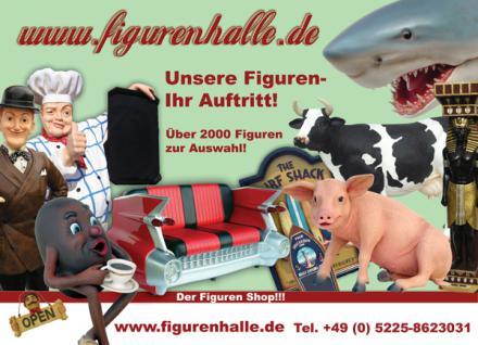 Kuh Butler Figur Dame Lustige Werbefigur Tulpen Bauernhof Statue Skulptur - Vorschau 2