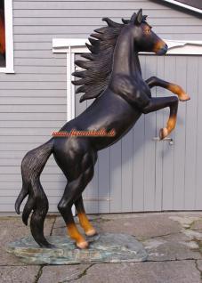 Riesn Mustang Wildpferd Figur Statue Skulptur Deko - Vorschau 2