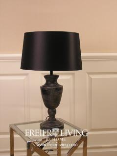 Lampenfuß Tischleuchte schwarz Holz Vintage Schabby Chic