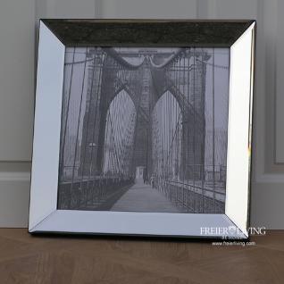 Wandbild Brooklyn-Bridge Spiegelrahmen schwarz