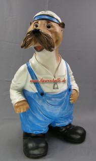 Seehund Robbe Figur Gartenfigur Dekofigur Statue