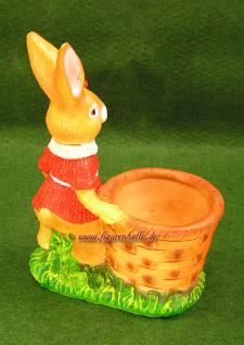 Ostern Hasen Frau mit Körbchen als Figur - Vorschau 3