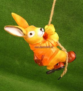 Osterhase am Seil zum aufhängen Dekofigur Figur Ostern Deko