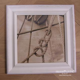 Segelschiff Maritim Wandbild mit Rahmen Knoten