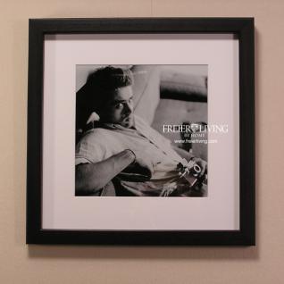 James Dean Wandbild Sofa Fotoaparat schwarz weiß Kunstdruck