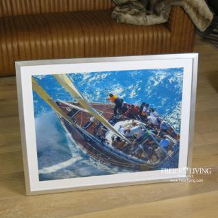 Segelyacht Wandbild in Rahmen Meeresdekoration Sylt Deko