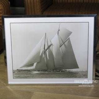 Historische Segelyacht als Maritime Wanddekoration waterwitch yacht 1911