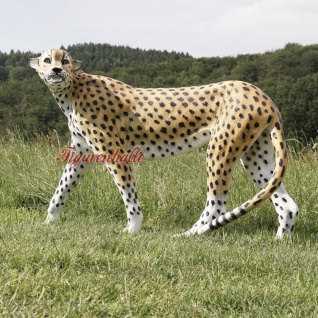 Leopard Leoparde Afrika Kopf Figur Statue Skulptur Figur lebensgroßDeko