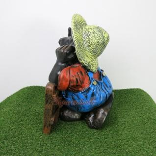 Maulwurf am Gartenzaun Stinkefinger Gartenfigur Dekofigur - Vorschau 3