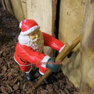 Weihnachtsmann Leiter kletternd Figur Statue Skulptur - Vorschau 3
