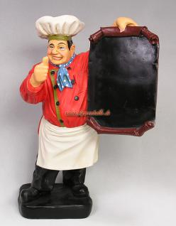 Koch Werbefigur als Werbeaufsteller für Gastro