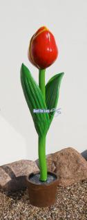 Tulpe Gartendeko Floristik Dekoration Figur Statue Skulptur
