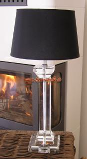 Glas Lampenfuß Deko Tischlampe