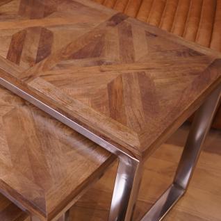 3er Tisch Set Wohnzimmertisch Beistelltisch Holz Shabby Chic Vintage Home Interiors - Vorschau 3