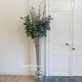 bodenvase ca 135 cm gro e aluminum vase gef s impressionen landhausstil deko kaufen bei helga. Black Bedroom Furniture Sets. Home Design Ideas