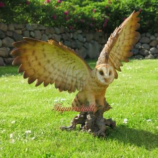 Eule Uhu Flügel Vogel Wald Wiesen Figur Skulptur Dekoration Tier neu - Vorschau 4