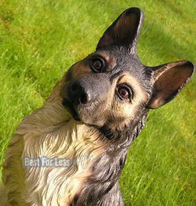Deutscher Schäferhund Dekofigur Statue Figur