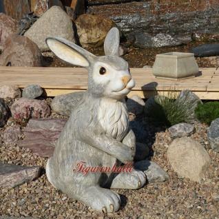 Osterhase groß Figur Außendekoration Hase Garten grau Ostern