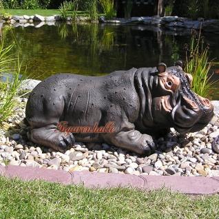 Nilpferd Flusspferd Figur Statue Aufstellfigur