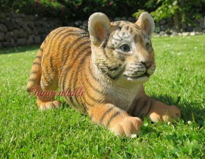 Löwe liegend klein Babylöwe Löwenwelpe Figur Skulptur Dekoration Tier neu
