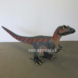 Velociraptor Dinosaurier Figur Statue Deko Skulptur Uhrzeit Tiere 111cm - Vorschau 1