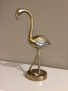 Flamingo Aufstell Figur Statue Skulptur Aluminium bronze gold Farbton