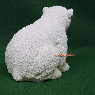 Anktarktis Eisbär sitzend Figur Statue Skulptur Deko - Vorschau 4