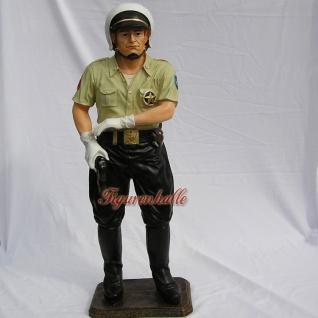 US Cop Figur Polizist Officer Dekofigur Dekoration