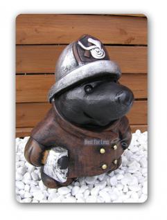 Maulwurf als Feuerwehrmann Figur Statue Dekoration